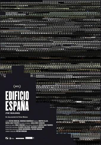 The poster for the documentary Edificio España