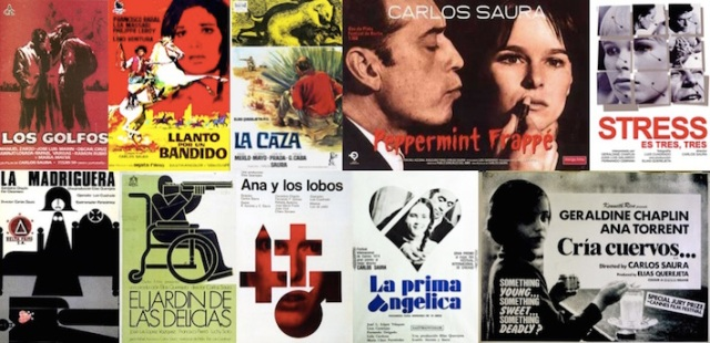 film posters for the Saura films watched to date