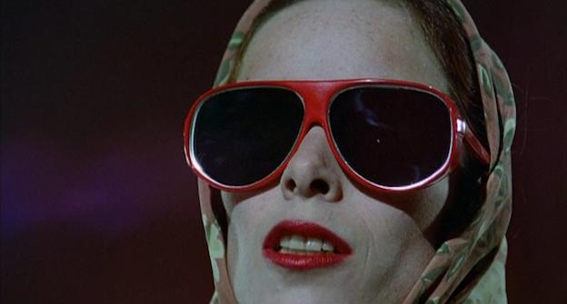 an almost unrecognisable Geraldine Chaplin in Carlos Saura's Los ojos vendados