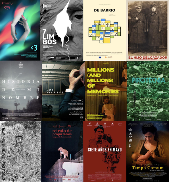 A collection of posters for films in this year's Festival Márgenes