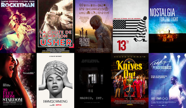 Film posters of films I watched in 2020
