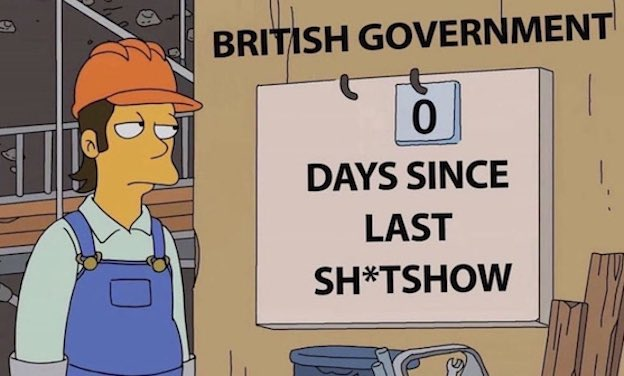 Image from The Simpsons amended to comment on the UK Govt
